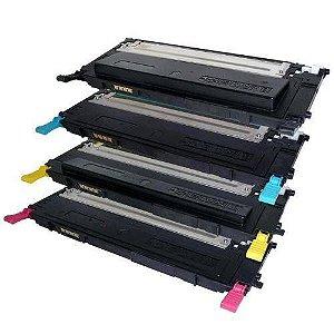 Kit 4 Cores Toner Compatível Samsung Clt 407 407 Clp-320 Clp-325 Clx-3185 Clx-3285 1,5K
