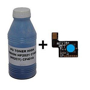 kit Po cf411 55g+Chip Para Hp Cf411a cf411 410A Cyan Hp M452 M477  2.3K