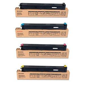 kit 4 Cores Toner Compatível Sharp Mx-23Btba Mx-2310 Mx2310 Mx2614N Mx2616N Mx3114 Mx3116N Isd