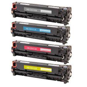 Kit 4 Toner Compatível Hp 305a Ce410a Ce411 Ce412 Ce413 Cmyk - Hp Pro 400 M451dn M475dn M451 Pro 300