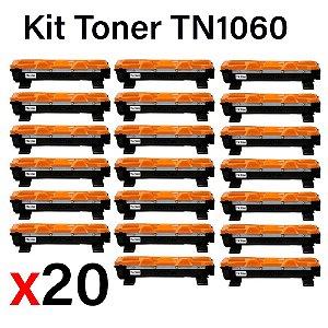 kit 20 un Toner Compatível Brother Tn1060 Tn-1060 Tn1000 HL1202 1212 1512 DCP1602 1617 1K