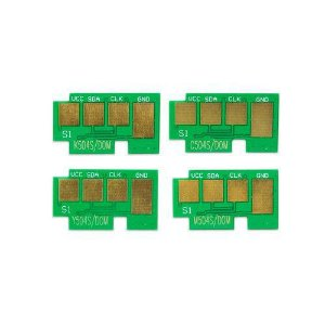 Kit 4 Chip Toner Samsung Clx-4195 Clp-415nw Clp-415 Clx-4195fw - Clt-504s Cmyk