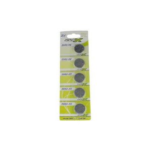 Bateria Moeda Cr 2032 Cr-2032 3v Lithium Cartela C/ 5pcs Cr2032