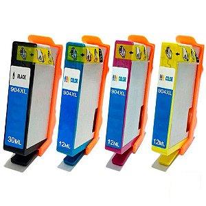 Kit 4un Cartucho Compatível  HP 904 904XL Black Cyan Yellow Magenta Officejet Pro 6970 K M C Y
