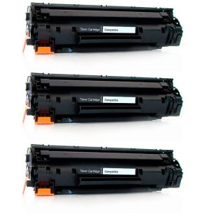 Kit 3x Toner Compatível HP CF217A 17A M130 M102 Sem Chip