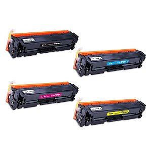 Kit 4 Toner Compatível Hp Cf510a Cf511a Cf512a Cf513a 204a M180 K C M Y