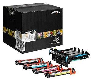 Kit Imagem Original Lexmark C540x74g Black and Color C540 C543 C544 X543 X544 X546 X548 30k