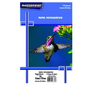 Pct Com 50 Folhas A4 Papel Fotografico À Prova D´água Glossy Brilhante 120g