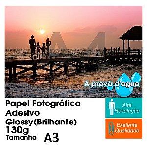 Pct Com 100 Folhas A3 Papel Fotografico Adesivo À Prova D´água Glossy Brilhante 130g