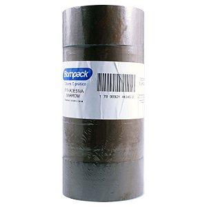 Kit C/ 5 un Fita Adesiva Marrom BomPack 48mm x 100 Metros