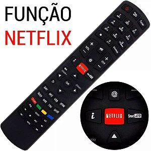Controle Philco Remoto Smart Tv Led Lcd 3d   Rc3100l03 Função Netflix Ph58e Ph55m Ph46m Ph39f com Pilhas