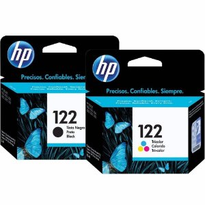 Kit Cartuchos Tinta Original Hp Ch561hb Hp 122 Preto 2ml + Ch562hb Hp 122 Tricolor 2ml