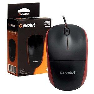 Mouse Evolut Eo-102 1000dpi USB| Vermelho