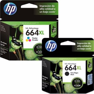Combo Cartucho Original Hp 664xl Black F6v31ab + 664xl Color F6v30ab