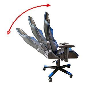 Cadeira Evolut Gamer Eg-900 Azul C/ Preto Professional