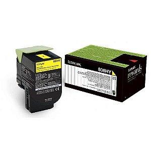 Toner Original Lexmark 808hy 80c8hy0 Yellow Cx410 Cx510 Cx510de Cx510dhe 3k