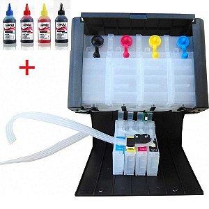 Bulk Ink C/ Tinta Epson TX120 T25 TX135 TX320 TX125 T22  c/chip Reset c/ Caixa Elegance