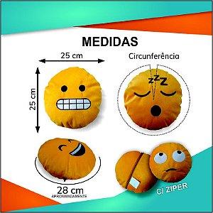 Almofada Emoji Careta Whatsapp 28cm Fino Acabamento