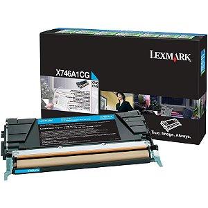 Toner Original Lexmark X746a2cg Cyan X746 X748 7k