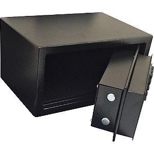 Cofre Digital Eletrônico Preto 6 digitos 16 x 30 x 20