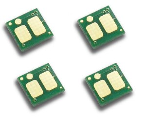 Kit com 4 Chip P/ Toner  Cf500a Cf501a Cf502a Cf503a 202a K M C Y
