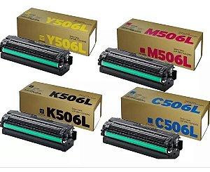 kit 4 Cores Toner Original Samsung Clt-506l 506 Clp680 Clp-680 Clx6260 Clx-6260