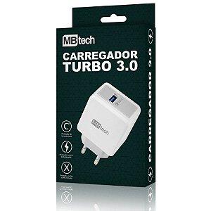 Carregador Rápido Turbo Qualcomm Quick Charge 3.0 Mb52072