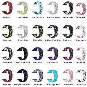 Pulseira Nike Silicone Furo Apple Watch 1 2 3 4 - 42 | 44 Mm