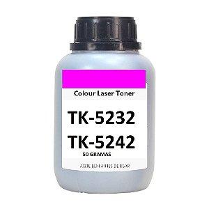 Refil Po Recarga Toner 50g Magenta P/ Toner Kyocera Tk5232 Tk5242 M5526 P5026 M5521 P5021
