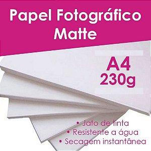 Pct Com 500 Folhas A4 Papel Fotografico Matte Fosco 230g