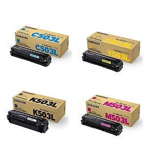 Kit 4 Toner Original Samsung 503l  SL-C3010DW SL-C3060FW K M C Y C3010 C3060