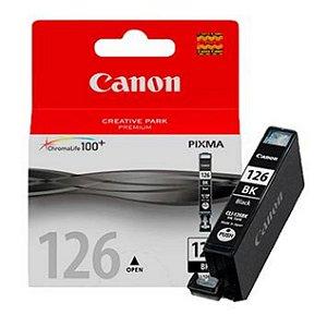 Cartucho Original Canon Cli126 Cli-126bk Preto iP4810 4910 iX6510 MG5210 MG5310 MG6110 MG6210 9ml