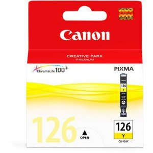 Cartucho Original Canon Cli-126Y Yellow iP4810 Pro9000 iX6510 MG5210 MG5310 MG6110 MG6210 9ml