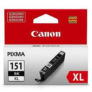 Cartucho Original Canon Cli151XL Cli-151xl Cli-151XlBk Bk Preto Ix6810 11ml Alto Rendimento