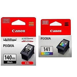 Kit 2 Cartuchos Original Canon Pg140xxl Pg-140xxl Cl141 Cl-141 alto rendimento