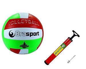 Bola Volei Brasport + Bomba + Bico