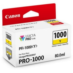 Cartucho Original Canon Pfi-1000 Pfi1000y Yellow imagePROGRAF PRO-1000 80ml