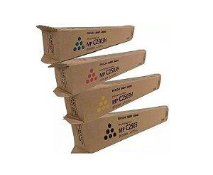 Kit 4 cores Toner Original Ricoh Mp C2003 C2004 C2503 C2504 K M C Y