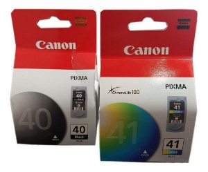Kit com 2 Cartuchos Original Canon Pg40 Pg-40 + Cl41 Cl-41