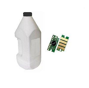 Kit Recarga Toner Preto Tk5232 Po 100g + 2 Chip M5521 P5021 K