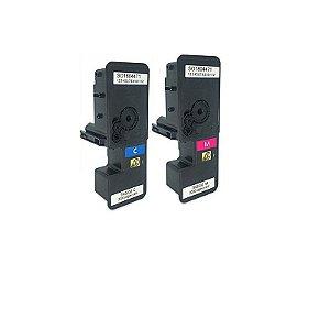 Kit Toner Compatível Kyocera TK5232c Cyan + Tk5232m Magenta M5521 P5021