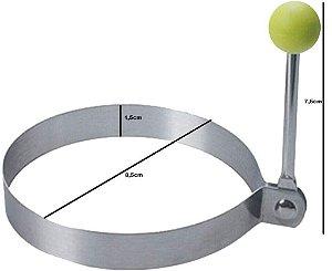 Modelador Forma Ovo Panqueca Inox - Redondo