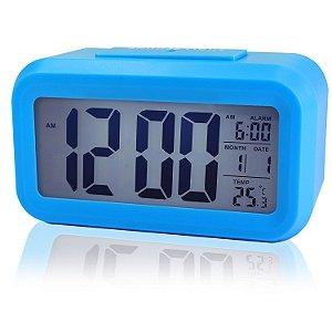 Relógio Mesa Led Digital Calendário Termômetro Alarme Despertador
