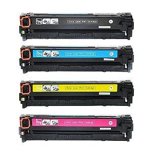 Combo 4 Toner Compatível 131a 128a 125a | Cb540,1,2,3 ce320,1,2,3 | cf210,1,2,3