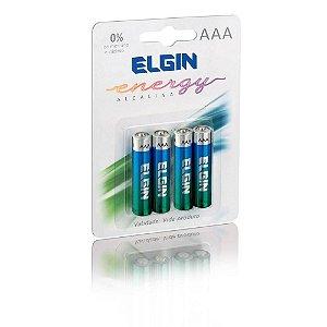 Pilha Palito Alcalina Blister C/4 unidades AAA - Elgin