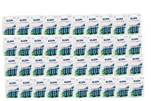 Kit 40 Blister Pilha Palito Alcalina Blister C/4 un Cada AAA - Elgin - 160 Pilhas
