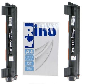 kit 2 Toner Compatível Brother Tn-1060 DCP1512 DCP1617NW HL1112 HL1202 HL1212W +1 Resma