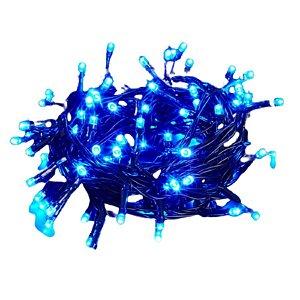 Pisca Pisca 100 Leds 110v Azul 9 metros