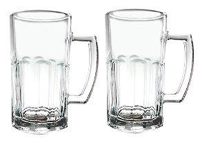 Conjunto Caneca De Vidro Chopp Cerveja 500Ml Kit 8 Peças