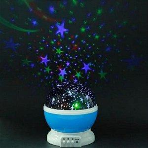 Luminária Projetor Estrela 360º Abajur Star Master Azul